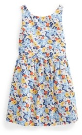 Polo Ralph Lauren Toddler Girls Floral Poplin Dress