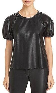 Velvet by Graham & Spencer Foley Faux Leather Top