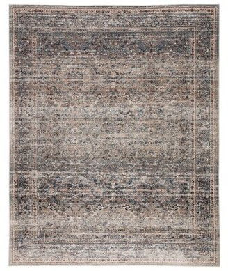 """Bungalow Rose Broomsedge Power Loom Blue/Gray Rug Rug Size: Rectangle 9'2"""" x 12'6"""""""