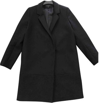 Cos Black Wool Coat for Women