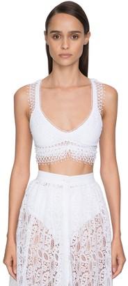 Ermanno Scervino Lycra & Lace Triangle Bikini Top