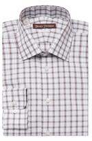 Hickey Freeman Printed Cotton Classic Fit Dress Shirt