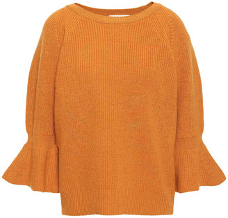 MICHAEL Michael Kors Fluted Wool And Alpaca-blend Sweater
