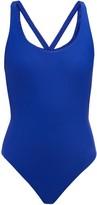 JADE SWIM Asterik Crossed-back Swimsuit - Womens - Blue