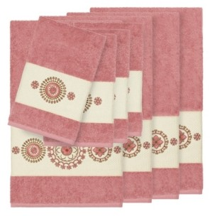 Linum Home Isabelle 8-Pc. Embroidered Turkish Cotton Bath and Hand Towel Set Bedding