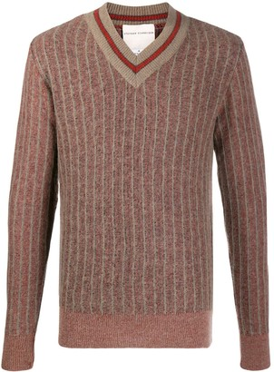 Stephan Schneider Striped V-Neck Jumper