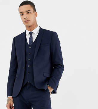 Heart N Dagger skinny suit jacket-Navy
