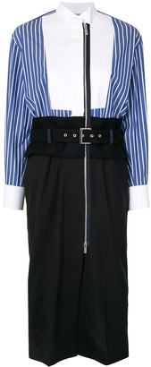 Sacai Belted Shirt Dress
