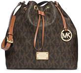Michael Kors Jules Drawstring Logo Large Shoulder Bag