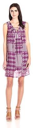 Velvet by Graham & Spencer Women's Mali Print Lace up Dress