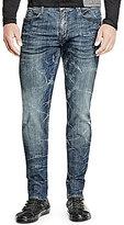 GUESS Slim-Fitting Straight-Leg Sanded Denim Jeans