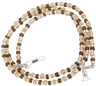 Generic Women's Decorative Glasses Spectacle Eyewear Bead Chain Holder (Brown)