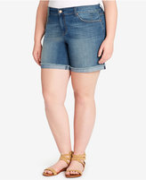 Jessica Simpson Trendy Plus Size Denim Shorts