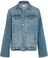 Frame Le Jacket Oversized Denim Jacket - Blue