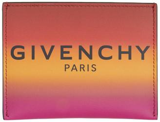Givenchy Orange Gradient Card Holder