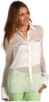 Robert Rodriguez Silk Blocked Shirt Women's Blouse