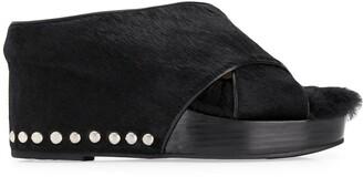 Toga Pulla Studded Heel Wedged Sandals