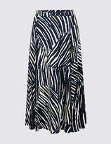 Marks and Spencer Animal Print Jersey A-Line Midi Skirt