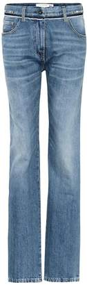 Valentino Rockstud mid-rise jeans