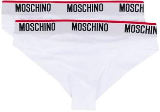 Moschino logo waistband brief set