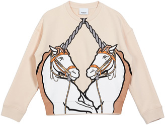 Burberry Girl's Lilia Unicorn Graphic Sweater, Size 3-14