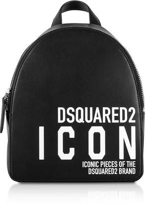DSQUARED2 New Icon Black Calf Leather Backpack