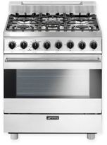 Smeg Pro-Style 30-Inch Free-Standing Gas Range in White