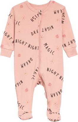 Petit Lem Dream Print Organic Cotton Fitted One-Piece Pajamas
