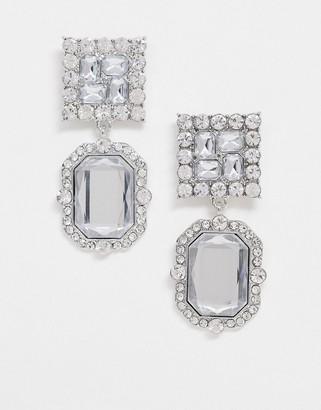 True Decadence oversized earrings with crystal gem drop