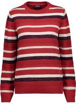 A.P.C. Harper Metallic Striped Cotton-Blend Sweater