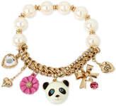 Betsey Johnson Gold-Tone Beaded Panda Charm Bracelet