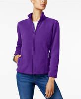 Karen Scott Petite Zeroproof Fleece Jacket, Created for Macy's