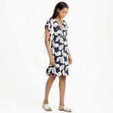 J.Crew Petite tropical frond shift dress