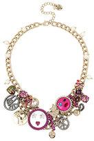 Betsey Johnson Harlem Shuffle Charm Necklace
