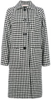 Marni houndstooth coat - women - Polyamide/Viscose/Virgin Wool - 40