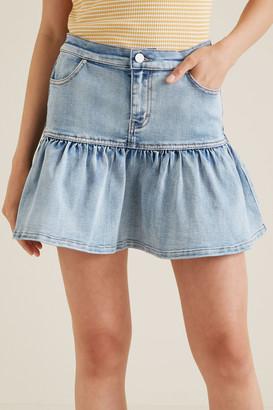Seed Heritage Frill Denim Skirt