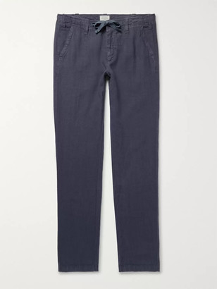 Hartford Troy Slim-Fit Linen-Chambray Drawstring Trousers