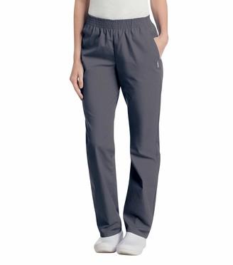Landau Women's Plus Comfortable Relaxed Fit 2-Pocket Elastic Waist Scrub Pant