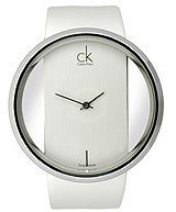 Calvin Klein Women's Glam K9423101 Leather Swiss Quartz Watch with Dial