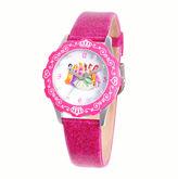 Disney Princesses Glitz Tween Pink Leather Strap Watch