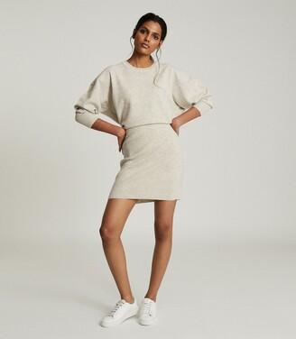 Reiss Alexa - Knitted Sweat Dress in Grey