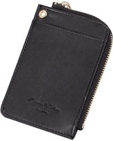 K&S KS Mens Black Leather Credit ID Business Card Holder Case Wallet with KB078