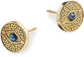 Alex and Ani Evil Eye Post Earrings, Blue