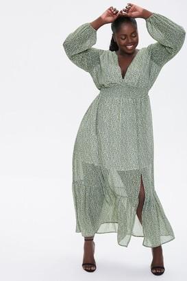 Forever 21 Plus Size Floral Peasant Maxi Dress