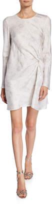 Maggie Marilyn Twice As Nice Printed Long-Sleeve Twist-Front Dress