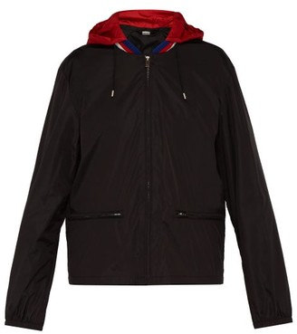 Gucci Detachable-hood Windbreaker Jacket - Mens - Black