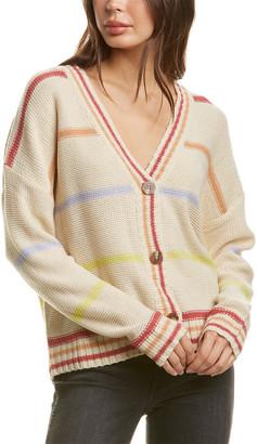 City Sleek Striped Cardigan
