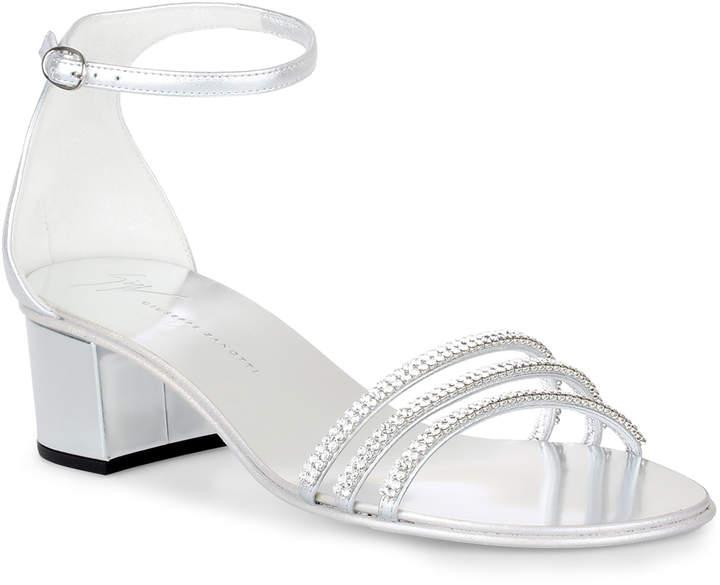 Giuseppe Zanotti Martha silver crystal sandals