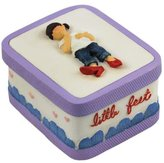 WL 2 Inch Girl in Lady's Large Red Shoes Little Feet Trinket Box