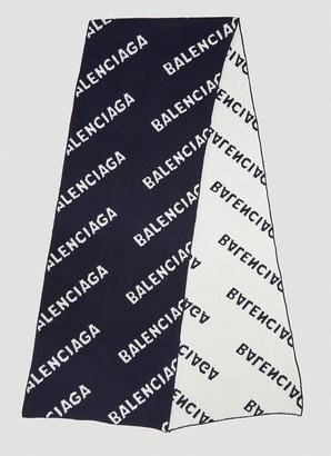 Balenciaga Intarsia Logo Scarf